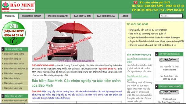thiết kế website bảo hiểm giá rẻ