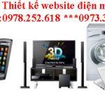 Thiết kế website điện máy giá rẻ nhất thị trường web, chất lượng đảm bảo.
