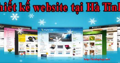 thiết kế website tại hà tĩnh giá rẻ