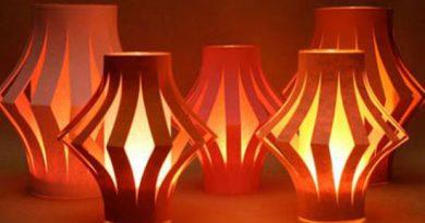 làm đèn lồng bằng giấy