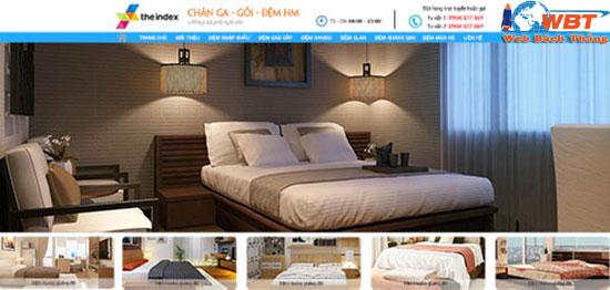 thiết kế website bán chăn ga gối đệm