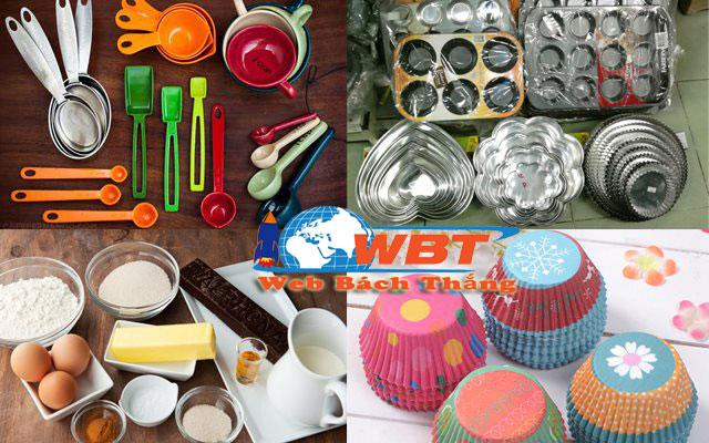 thiết kế website bán dụng cụ làm bánh