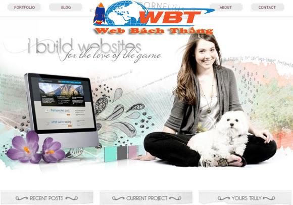 thiết kế website cá nhân giá rẻ