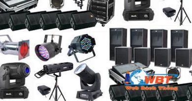 làm website bán thiết bị âm thanh chiếu sáng