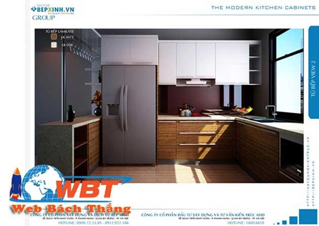Thiết kế website bán tủ bếp