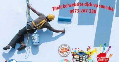 Thiết kế website dịch vụ sơn nhà
