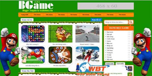 thiết kế web game