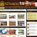 Thiết kế website bán tủ bếp đẹp chuyên nghiệp tại Hà Nội