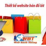 Dịch vụ Thiết kế website bán đồ lót nam nữ giá rẻ