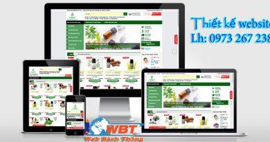 Mẫu thiết kế website bán tinh dầu dừa