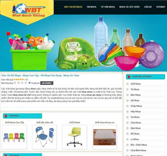 Thiết kế website bán đồ nhựa