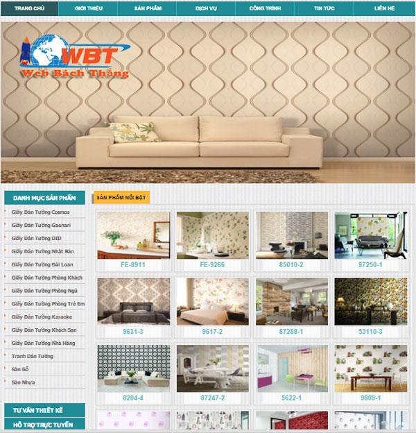Thiết kế website bán giấy dán tưởng chuẩn seo giá rẻ