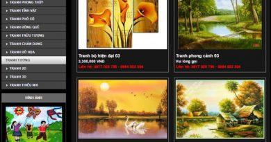 Thiết kế website bán khung tranh - bảo hành web trọn đời