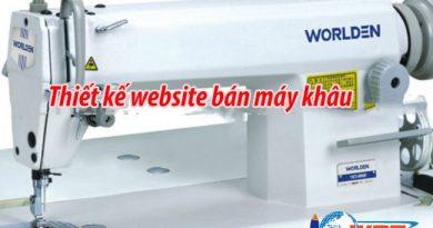 Thiết kế website bán máy may