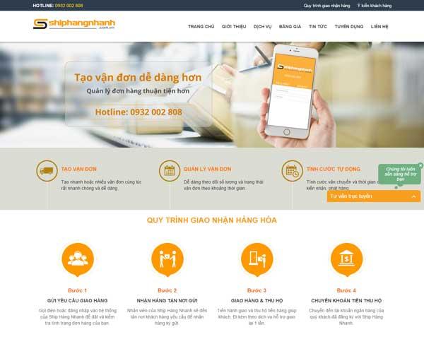 Thiết kế website vận chuyên hàng hóa