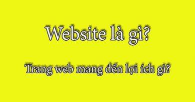 khái niệm website là gì