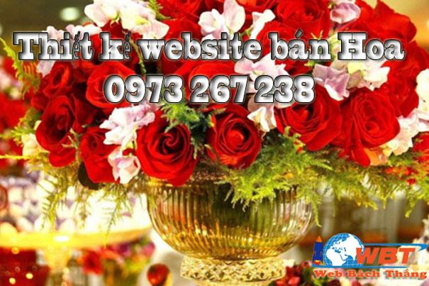 Thiết kế website bán hoa