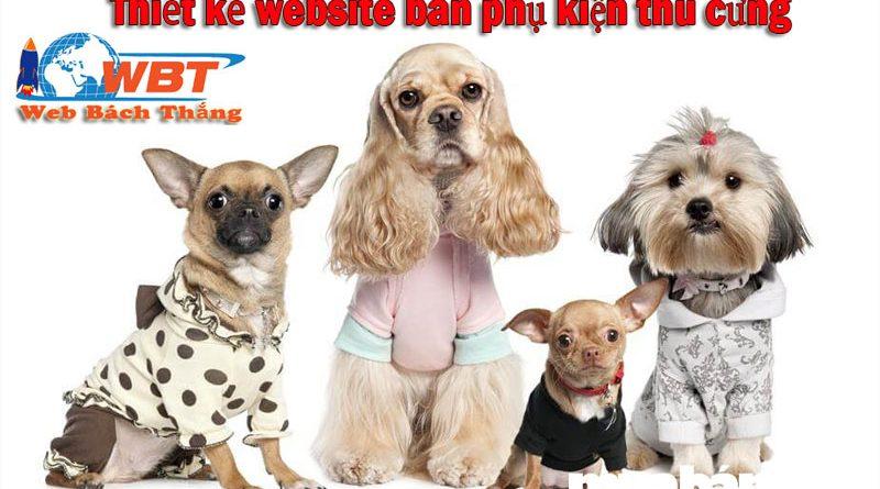 Thiết kế website bán phụ kiện thú cưng