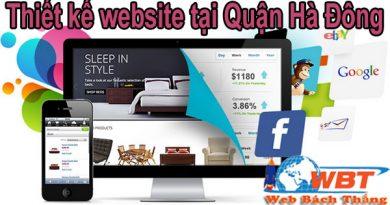 Thiết kế website tại Hà Đông chuyên nghiệp