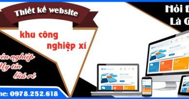 Thiết kế website khu công nghiệp xí nghiệp