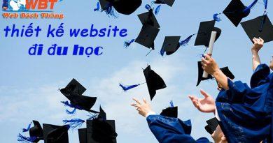 Thiết kế website đi du học