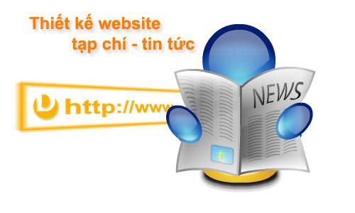 Thiết kế website tin tưc chuyên nghiệp