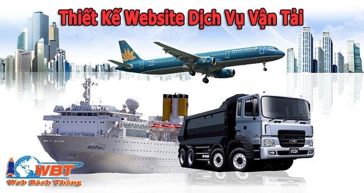 Thiết Kế Website Dịch Vụ Vận Tải chuyên nghiệp