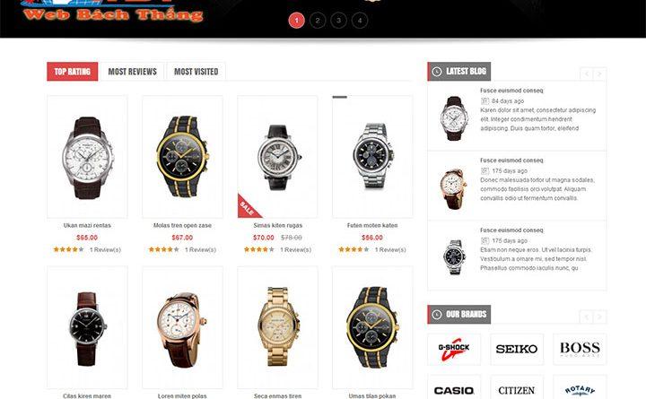 Thiết kế website bán đồng hồ đẹp chất lượng chuẩn seo