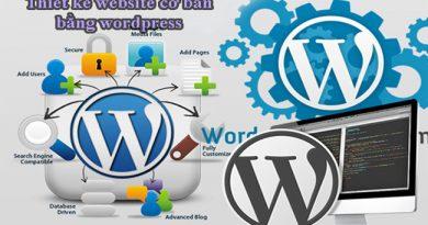 Thiết kế website cơ bản bằng wordpress
