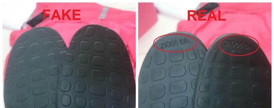 GIày Adidas tại Hà Nội - Lót giày Fake và Real